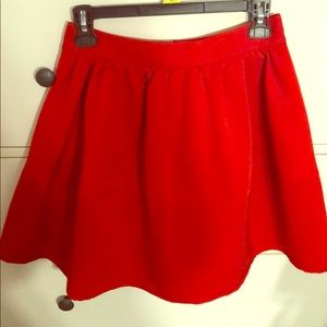 Express skirt red size 2
